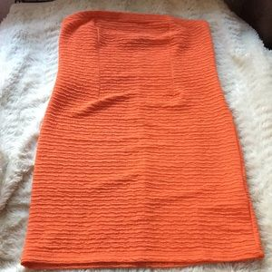 Topshop Sz 10 orange dress